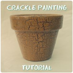 DIY Tutorial: Crackle Painting