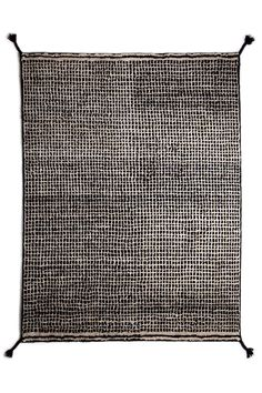 Woodnotes' hand knotted wool carpet col. white-black