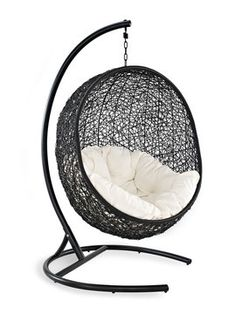Cocoon Patio Swing Chair from Summer Entertaining: Hang Out Back on Gilt