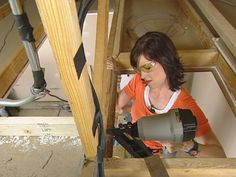How to install an attic ladder... will need for the home we might (will) get. The huge garage has above garage storage, but needs a built in ladder!