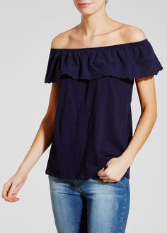 3464b626c61337 Schiffley Lace Bardot Top Bardot Top
