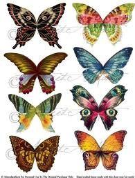Butterflies for decoupage