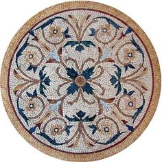Marble Medallion Mosaic-Table And Counter top ideas