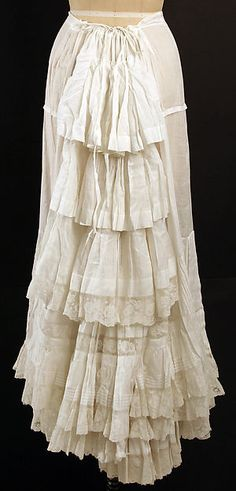 Petticoat    Date: 1880s  Culture: American  Medium: cotton  Accession Number: C.I.47.54a, b | The Met