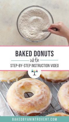 Amazing Old-Fashioned Baked Donuts are so easy to make and remind you of a classic glazed doughnut. Cake Donut Recipe Baked, Baked Doughnut Recipes, Easy Donut Recipe, Duck Donuts Recipe, Classic Glazed Donut Recipe, Buttermilk Doughnut Recipe, Donut Maker Recipes, Homemade Donuts, Homemade Cakes