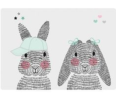 Mini rabbits Sparkling Paper