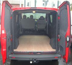 Vauxhall Vivaro / Renault Trafic - Anthracite carpeting to sides and doors. www.vanax.co.uk