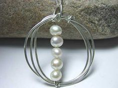 Handmade jewellery - pearl and silver more at silverwiredesigns.com #jewellery #silver #weddingideas #fashion #style #followback