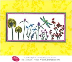 The Stampin' Place - Card Idea: 470-04 Plant Silhouettes