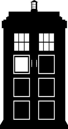 "6"" Doctor Who TARDIS Vinyl Decal. $4.00, via Etsy."