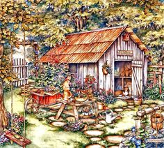 Garden Shed by Kim Jacobs