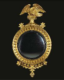 A REGENCY GILTWOOD CONVEX MIRROR Convex Mirror, Mirror Mirror, Magic Mirror, Regency, Black Gold, 19th Century, Eye, Living Room, Antiques