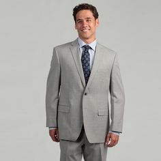 @Overstock - Show up dressed to impress in this light-gray Calvin Klein mens suit. With a two-button jacket, double vent, and notched collar, this classic mens suit is perfect for work or special events. The flat-front pants feature roomy pockets.http://www.overstock.com/Clothing-Shoes/Calvin-Klein-Mens-Light-Grey-Wool-Suit/6517169/product.html?CID=214117 $128.69