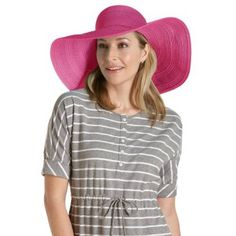 Coolibar UPF 50+ Women's Beachside Wide Brim Hat - Sun Protective (One Size - Fuchsia Pink) Coolibar. $19.99