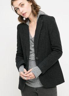 40€  mng outlet Americana algodón lana - Abrigos de Mujer | OUTLET