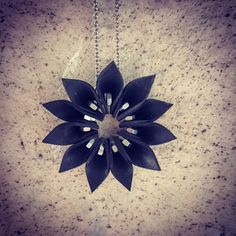 "45 Likes, 4 Comments - Ilaria_Morgana (@morgana_crea) on Instagram: ""Inner Tube Flower Pendant  Available on my etsy shop ➡ link in bio!  #upcycled #innertube #Flower…"""