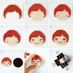 Cross Stitch Magnets 4