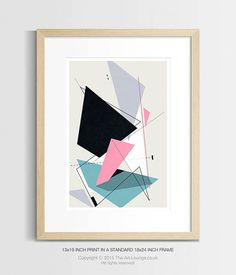 Constructions Modern Abstract Geometric Print by TheArtLoungeUK