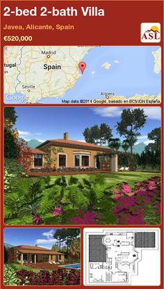 2-bed 2-bath Villa in Javea, Alicante, Spain ►€520,000 #PropertyForSaleInSpain