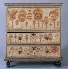 Antique folk art blanket chest.....painted in 1740