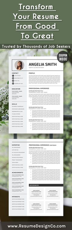 ResumeDesignCo provides high quality and professional resume - cv templates word