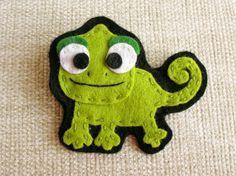 Feltia: Camaléon de fieltro / Felt chameleon