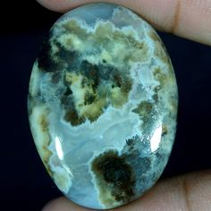 XMAS SALE 35.80Ct. Outstanding AGATE OVAL CABOCHON LOOSE GEMSTONES 8523697 #Handmade