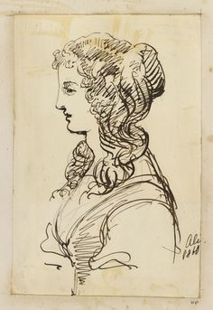 A female figure dated 1860 by Princess Alice, Grand Duchess of Hesse & by Rhine, consort of Ludwig IV, Grand Duke of Hesse & by Rhine, daughter of Queen Victoria Queen Victoria Children, Queen Victoria Prince Albert, Princess Louise, Princess Alice, Cool Art Drawings, Ink Pen Drawings, Draw Show, Victoria's Children, Grand Duke