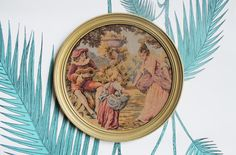 Ancienne encadrée tapisserie-romantique par LAtelierDeNanaH sur Etsy