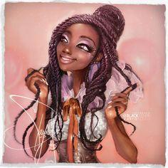"black-fenrir: ""Hey guys, here is my illustration series called ""Polaroid Illustration"" series 4 Enjoy! Art by Pamonh Sisouk I make updated fairly regularly, think come back see. Black Girl Art, Black Women Art, Black Girls Rock, Black Girl Magic, Art Girl, African American Art, African Art, Arte Black, Natural Hair Art"