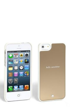'Hello Sunshine' Gold Mirror iPhone 5/5S Case
