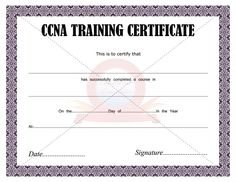 Award An Amazing Ccna Training Certificate Those Who Completed The From Cisco