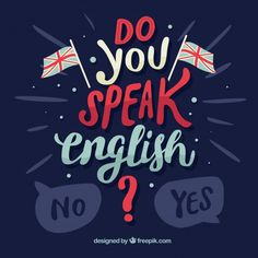 Do you speak english lettering background Free Vector English Help, Learn English Speaking, Better English, Learn English Grammar, English Course, English Class, Teaching English, Words In Different Languages, Hello Word