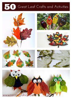 des chouettes d'automne, à adapter aux capacités des enfants...