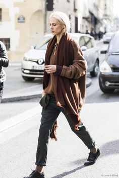 Aymeline Valade @ Paris Fashion Week, outside Haider Ackermann. (Photo: Sandra Semburg.)