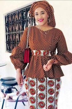 latest ankara skirt and blouse skirt and blouse style for wedding,latest ankara short skirt and blouse styles 2018 African Fashion Ankara, Latest African Fashion Dresses, African Dresses For Women, African Print Fashion, Africa Fashion, African Attire, African Print Dress Designs, Ankara Skirt And Blouse, African Traditional Dresses