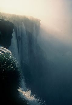 eerily silent//.....this looks like Angel Falls, Venezuela