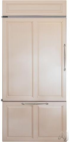 """GE Monogram ZICX360NHXH 36"""" Built-In Counter-Depth Bottom Freezer Refrigerator with 21.33 cu. ft. Capacity, 5 Glass Shelves, 6 Adjustable Door Bins, 2 Diary Bins, 2 Deli Drawers, 2 Humidity-Controlled Crispers and Filtered Ice Maker"""