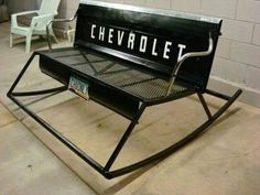 Upcycling old car parts for various purposes can become extremely surprising when the project is blended with creativity. Car Furniture, Automotive Furniture, Outdoor Furniture, Automotive Decor, Garden Furniture, Furniture Ideas, Furniture Design, Modern Furniture, Automotive Engineering