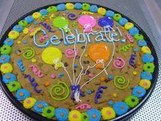 Giant Cookie Cake, Big Cookie, Cookie Frosting, Giant Cookies, Cookie Cakes, Birthday Cake Cookies, Fun Cookies, Cookie Cake Decorations, Cookie Cake Designs