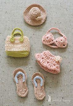 New crochet doll clothes amigurumi barbie patterns 64 Ideas Blog Crochet, Crochet Amigurumi, Cute Crochet, Crochet Crafts, Crochet Dolls, Crochet Baby, Crochet Projects, Hand Crochet, Beach Crochet