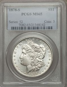 1878 S Morgan Silver Dollar PCGS MS65 (48142)