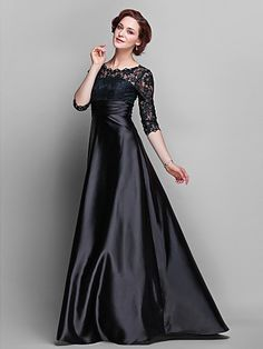 Elegant, Classy, Fashion, Lady, Glamorous, Luxury, Movie Star, A-line Jewel Stretch Satin & Lace Evening Gown, Mother of the Bride Dress ---  --- $248 --- Size: 2-4-6-8-10-12-14-16 --- Included Shipping within United States --- Paypal Payment --- Send a note for more details --- Style 003