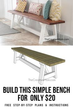 bank boyama 15 Adorable Gardening Furniture Projects with Wood Woodworking Furniture Plans, Diy Furniture Plans Wood Projects, Furniture Makeover, Furniture Ideas, Diy Woodworking, Diy Furniture Table, Building Furniture, Woodworking Videos, Diy Projects At Home