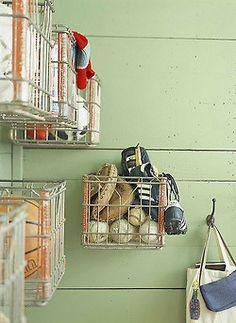 mudroom organization @TheDailyBasics ♥...or maybe garage organization - interiors-designed.com