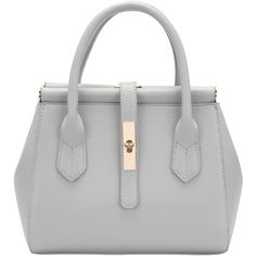 Grey Twist Lock Belt Zipper Bag (665 UAH) ❤ liked on Polyvore featuring bags, handbags, shoulder bags, purses, bolsas, accessories, grey, shoulder hand bags, gray handbags and man shoulder bag
