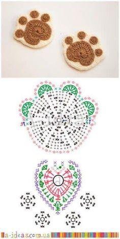 Huella - patrón ganchillo crochet
