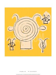 Tete de Faune en Grisaille avec Trois Figure Serigraph by Pablo Picasso at Art.com