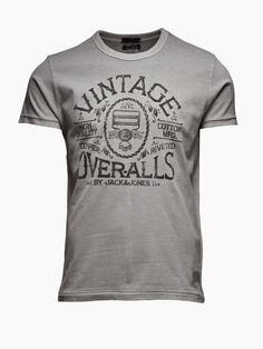Vintage T-Shirt at Jack Jones - Steel Tee, GRIFFIN