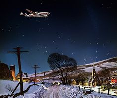 """The Flight Before Christmas"" by Peter Helck  (1893-1988)   